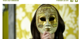 dropping the mask in newsletter