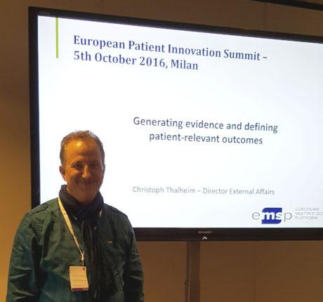 EMSP's Christoph Thalheim at the European Patient Innovation Summit 2016