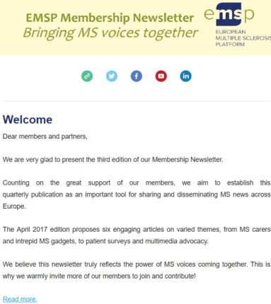 emsp membership newsletter bringing ms voices together emsp
