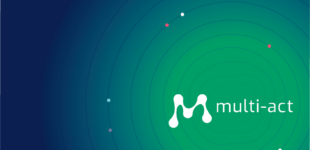 Multi-Act logo on blue-green gradient background